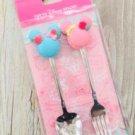 Tokyo Disney Resort Mickey & Minnie Shape Sweets Macaron Spoon & fork cutleryset