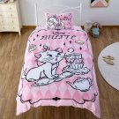 Disney Aristocats Marie Single Bedding Cover 3-Piece Duvet Cover&Sheet&Pillow