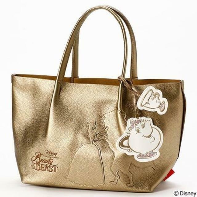 Disney Rootote Beauty and the Beast Tote Bag Mrs. Gold Pot & Chip Handbag