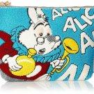 Disney Accommode Alice White Rabbit Sagara Embroidery Big Pouch Accessory Case L