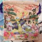 Tokyo Disney Resort 2017 New Year Mickey & Friends Drawstring Mini Pouch Bag Cas