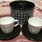 Disney Mickey Mouse Icon Pair Cup Set Black & White Cafe Cup Japan
