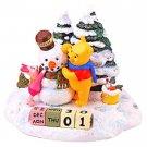 Pooh & Piglet Figure Season calendar winter Perpetual calendar Desk Honey Hunt