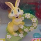 Disney Miss Bunny Ring Holder Flower Wreath Jewelry Stand Pottery Figure