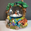 Rare! Disney Jungle Book 2 Snow Globe Dome Music Box Figure Mowgli The Bear Nece