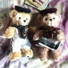 2011 TDS Spring Voyage Duffy & Sherry May Plush doll Pin badge Sailor chain doll