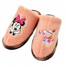 Disney Store Minnie Mouse Icon Boar Slipper Fur Sandals Room Shoes Pink