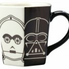 Star Wars All Stars Mug 230ml Black and White Darth Vader C3PO R2D2 Cafe Cup