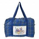 Disney Store Chip & Dale Boston Bag Folding Bag Travel Bag Blue Check Pattern