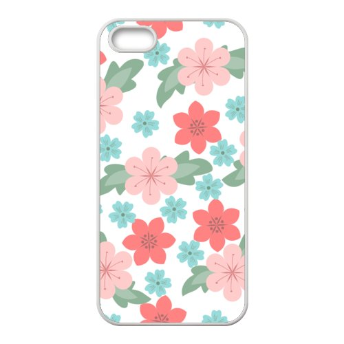 Custom Cases For iPhone 5s tpu_Flowers Pink Red