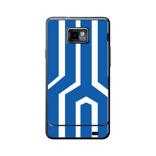 Skin for Samsung Galaxy S2 I9100_blueWhite-back side