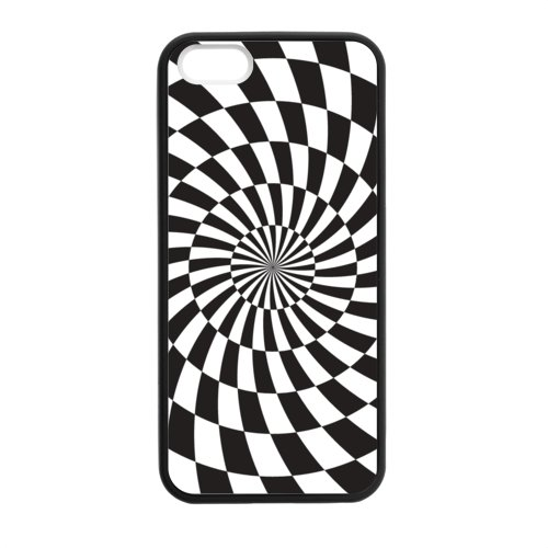 Custom Case for iPhone 5,5S TPU_BlackWhite