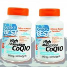 2X CoQ10 120 caps High Absorption Doctor's Best (100 mg), Softgels with BioPerine
