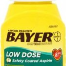 Bayer Aspirin Low Dose 81mg Enteric Coated (300 count tablets)