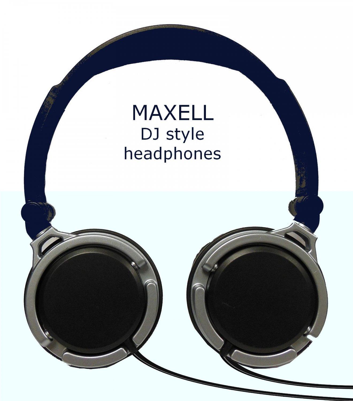 MAXELL DJ Style Headphones 40mm driver monitor for iPAD iPHONE MP3 deep bass