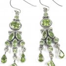 New Chandelier Green Peridot Earrings in Sterling Silver