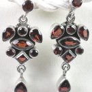 Red Garnet Earrings in Sterling Silver
