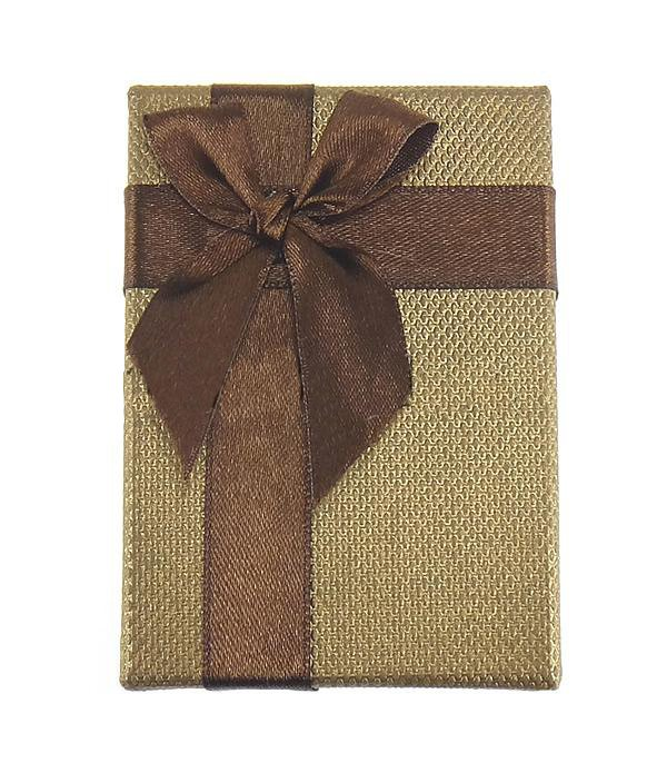 Cardboard Jewelry Gift Box, Rectangle, Gold, 90x60x30mm