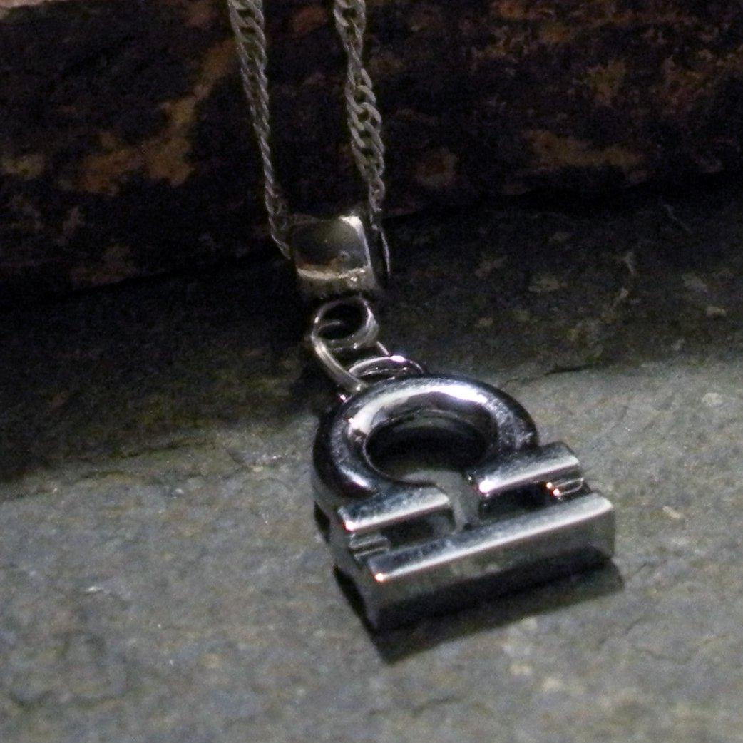 Silver Zodiac Charm Necklace - Libra the Scales (silver)