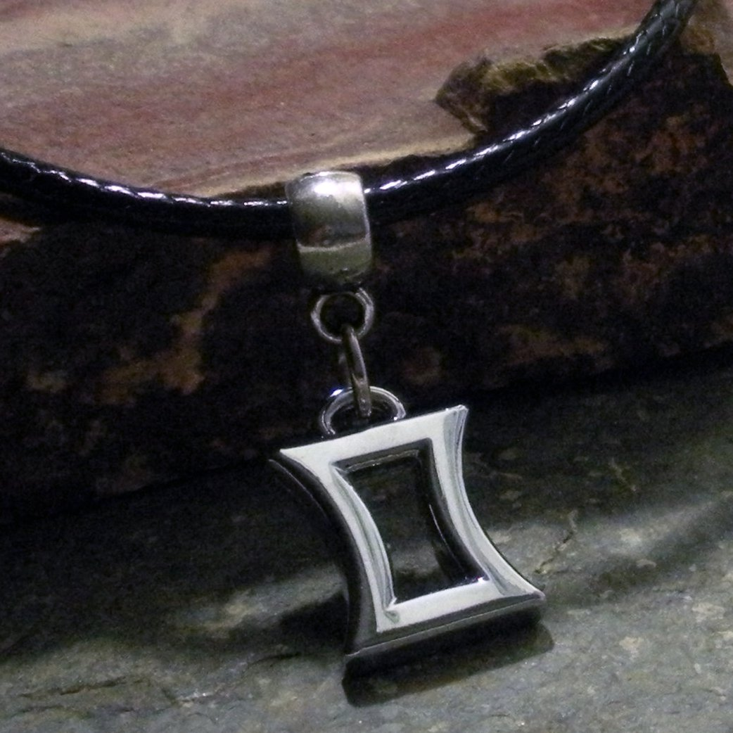 Silver Zodiac Charm Necklace - Gemini the Twins (leather)