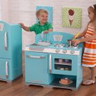 Kidkraft blue retro kitchen and refrigerator 53286