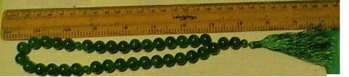 green agate beads
