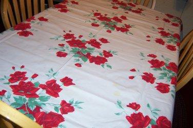 Wilendure American Rose vintage tablecloth