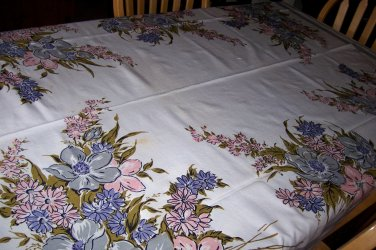 Beautiful floral Simtex with orignal paper label hand painted