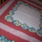 Vintage floral yellow garden bouquets tablecloth