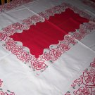 Vintage roses simtex floral tablecloth with cloth tag