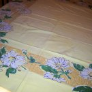 Beautiful Simtex Daisy vintage tablecloth with cloth tag