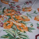 Vintage Startex tablecloth floral bouquets