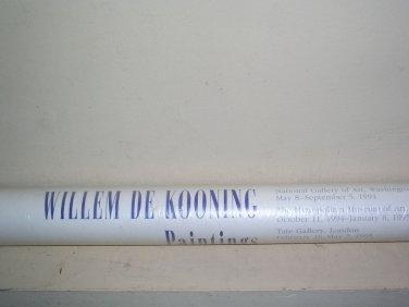 WILLEM DE KOONING UNOPENED WASHINGTON NEW YORK LONDON 1994 EXHIBITION POSTER