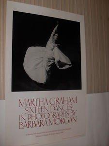MARTHA GRAHAM ORIGINAL BARBARA MORGAN 1980 BALLET POSTER