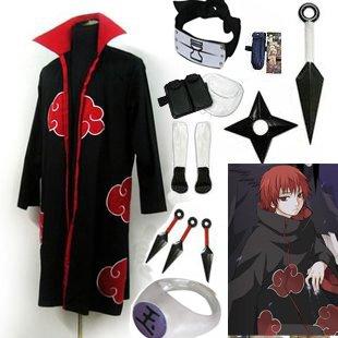 Fastest Shipping Naruto Akatsuki cloak Sasori Cosplay Costume