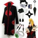 Fastest Shipping Naruto Akatsuki cloak Deidara Cosplay Costume