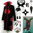 Fastest Shipping Naruto Akatsuki cloak Zetsu Cosplay Costume