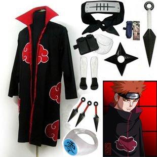 Fastest Shipping Naruto Akatsuki cloak Pain Cosplay Costume