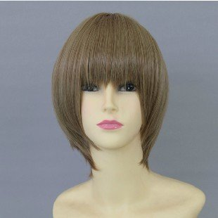 Okita Sougo Futa Light Brown Cosplay Wig