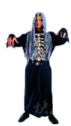 Free shipping Halloween Spareribs Ghost Cosplay Costume