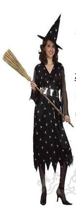 Free shipping Halloween Spider Witch Cosplay Costume