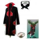Naruto Akatsuki cloak  Zetsu  Cosplay Costume (include cloak,headband and rings)