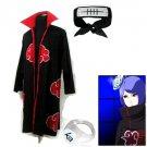 Naruto Akatsuki cloak Konan Cosplay Costume (include cloak,headband and rings)