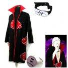 Naruto Akatsuki cloak Hidan Cosplay Costume (include cloak,headband and rings)