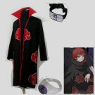 Naruto Akatsuki cloak Sasori Cosplay Costume (include cloak,headband and rings)
