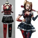 Custom Made A Set Of Batman Arkham Harley Quinn Cosplay Costume (include wig)