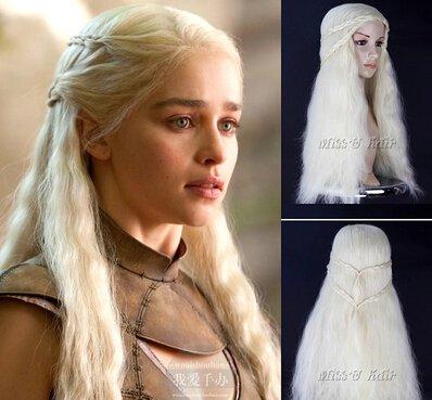 Custom Made Game of Thrones Daenerys Targaryen Cosplay costume (include wig)