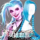 League of Legends The Loose Cannon Jinx Cosplay Wig