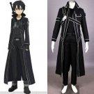 Sword Art Online Kirigaya Kazuto/Kirito Cosplay Costume