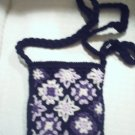 handbagbargains: Black and Purple Crocheted Purse